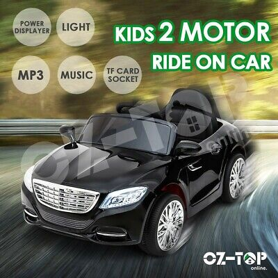 Kids Electric Ride On Car Remote Control 4 Wheels Toys 2 Motors w/Shock Absorber