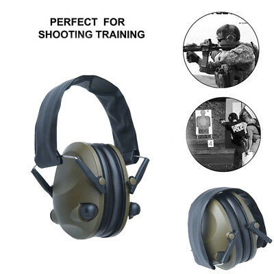Foldable Shooting Hunting Electronic Earmuffs W/ Input Jack Ear Muffs Xmas Gifts