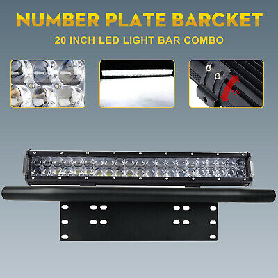 """20 inch CREE LED Light Bar With Black 23"""" Number Plate Frame For Car SUV Offroad"""