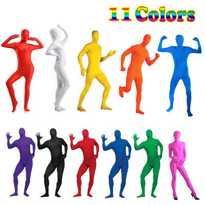 Spandex Full Body Suit Adult Men Women Invisible Morphsuit Costume Zentai Morph*