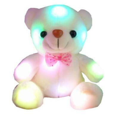 Cute Plush Soft Toy For Girls Baby LED Light Up Stuffed Bear Kids Doll Xmas Gift