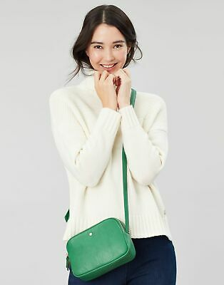 Joules Womens Farley Cross Body PU Bag in GREEN in One Size