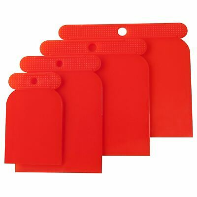 Amtech 4 Sizes Reusable Flexible Plastic Scraper Cleaning Filling Scraping Set