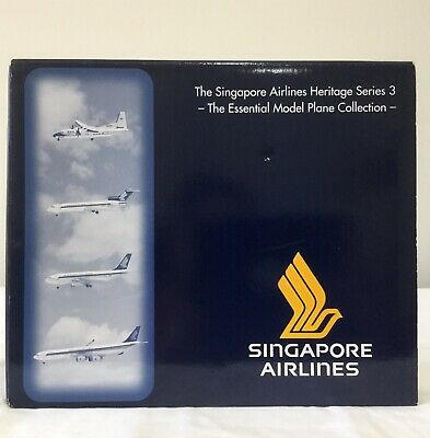 Singapore Airlines Model Planes x 4 Heritage Series 3 Aircraft Limited Edition