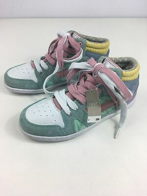 Bnwt Girls Next Multi Pastel Colours Lace Up Hi Top Ankle Boots Trainers Uk 2