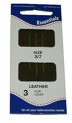Essential Leather/Gloves 3/7 Hand Sewing Needles 3 pk
