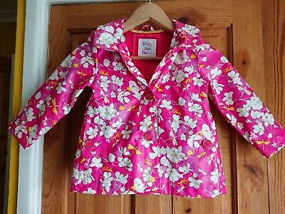 Ted Baker at Debenhams Girls Age 3-4 Pink Floral Raincoat, Perfect condition