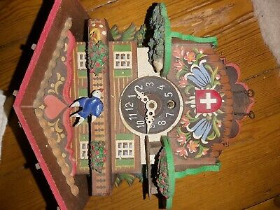Vintage 60s -70s Cuckoo Clock Wooden Hand Made