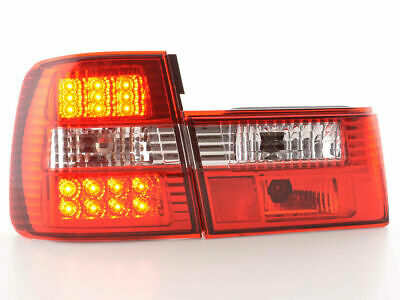Red clear finish LED tail rear lights for BMW 5er Typ E34 year 88-94