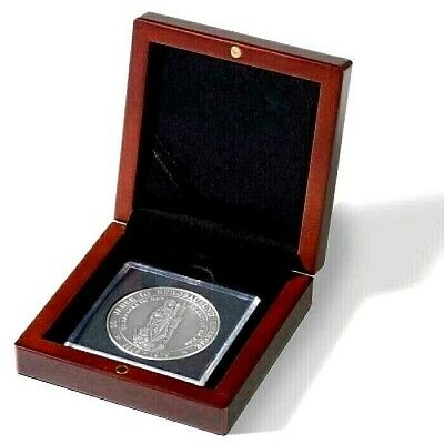 New Luxury Coin Box For 60 Quadrum 2x2 Flips Collector Gift Wood Presentation US