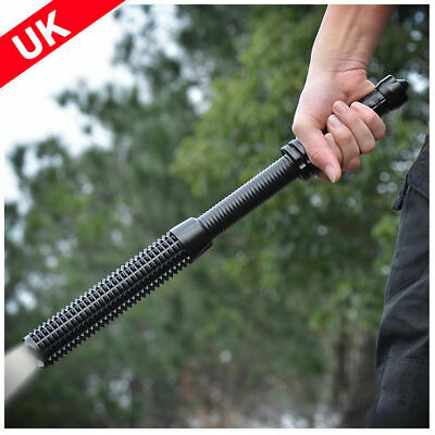 Waterproof Baseball Bat Flashlight Tactical Zoom LED Torch  USB Rechargeable UK