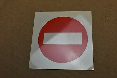 10 x Plastic 'No Entry', Label, Sign