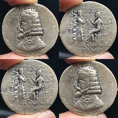 Old Solid Silver Wonderful Old Sasanian king Unique Coin