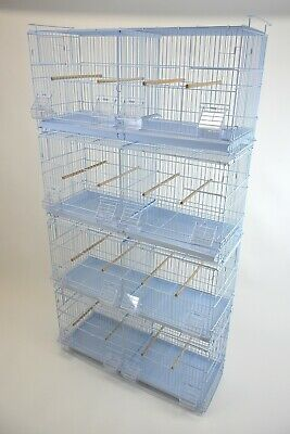 """30"""" Stackable Double Compartments Finch Sisken Canary Breeding Cages Bird Cages"""