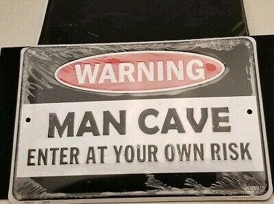 PP2802 WARNING ENTERING RANDY/'S MAN CAVE Chic Sign Home Decor Funny Gift