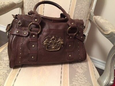 Betsey Johnson All Leather Large Brown Bag 30