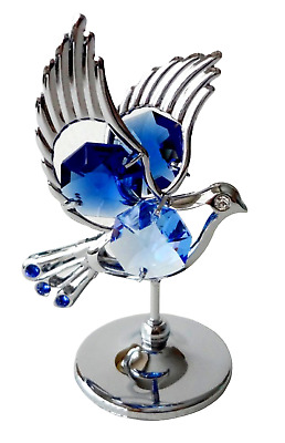 Crystal Crystocraft Dove Ornament With Swarovski Elements (with Box)