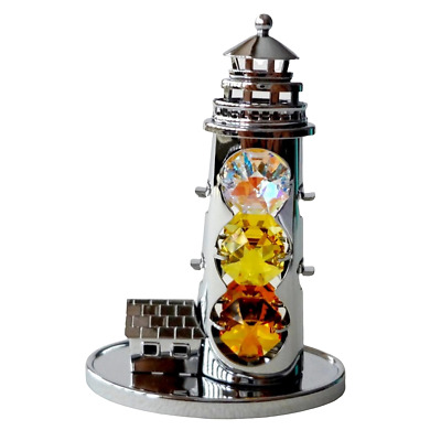 Crystal Crystocraft Lighthouse Ornament With Swarovski Elements (with Box)