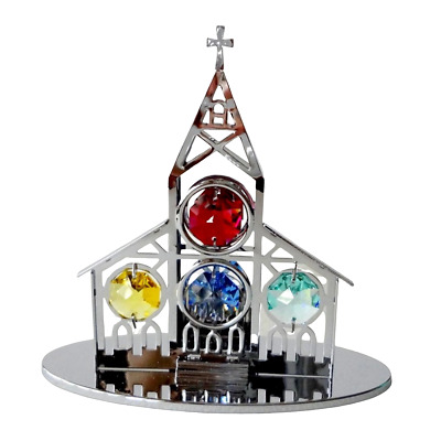 Crystal Crystocraft Church Ornament With Swarovski Elements (with Box)