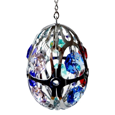 Crystal Crystocraft Egg Ornament With Swarovski Elements (with Box)