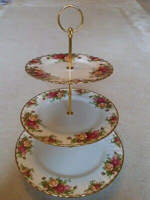 """Royal Albert """"Old Country Roses"""" Lovely & Affordable Three Tier Cake Stand"""