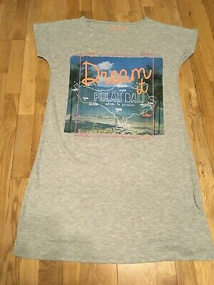 """NWT Girl's Grey Nightshirt """"Dream It"""" Design By M&S.  Age 11-12 Years"""