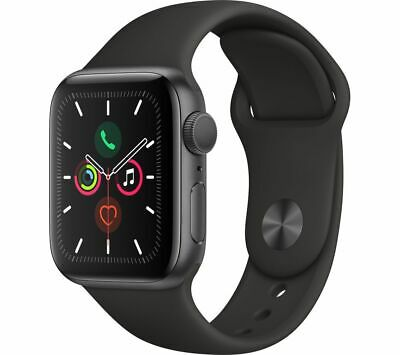 APPLE Watch Series 5 - Space Grey Aluminium with Black Sports Band, 44 mm - Curr