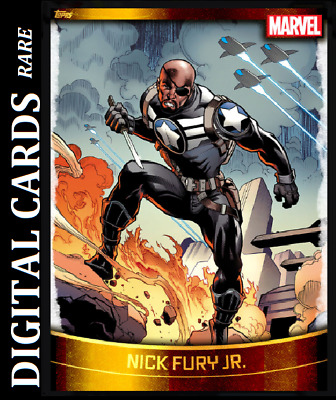 Topps Marvel Collect Card Trader Decades 2010 Gold Base Nick Fury Jr.