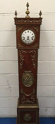 Vintage French Style Ormolu Kingswood Long Case Granddaughter Clock