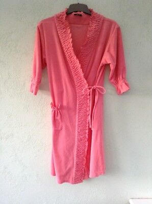 LADIES/GIRLS SHORT SLEEVED ROBE AGE 13/14 FROM IMI's NEW SECRET CORAL WTH DETAIL