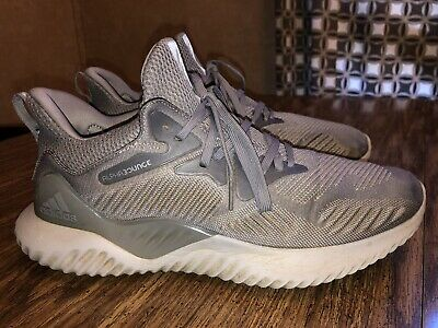Adidas AlphaBounce Beyond Shoes Gray Ultra Boost NMD Athletic Yeezy Mens Sz 10.5