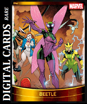 Topps Marvel Collect Card Trader Decades 2010 Gold Base Beetle
