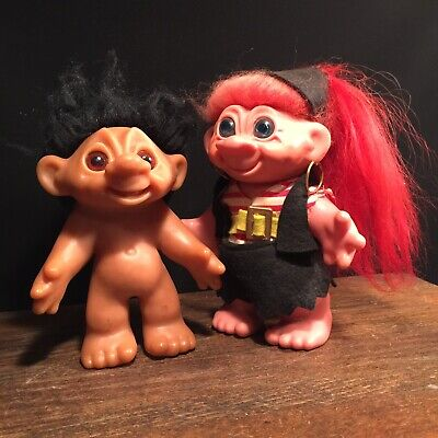 Vintage Dam Troll Lot (2) Doll Bank Made In Denmark Thomas PRIORITY MAIL a