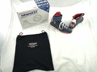 Stand 21 Porche Martini Racing Boots Leather Navy Kart Shoes FIA8856-2000 UK10.5