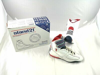 Stand 21 Porche Martini Racing Boots Leather White Shoes FIA8856-2000 UK10.5