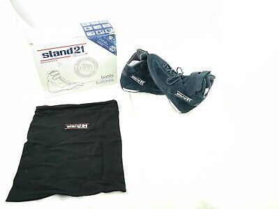 Stand 21 Racing Boots Suede Navy Kart Shoes FIA8856-2000 UK 10.5 EU 45 New Boxed