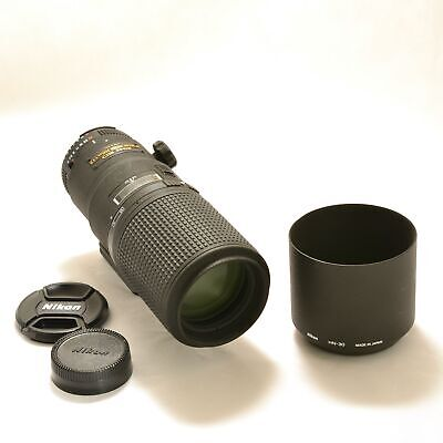Nikon Micro NIKKOR 200mm f/4 CRC D AF IF M/A ED Lens w/Hood & RRS Mounting Plate