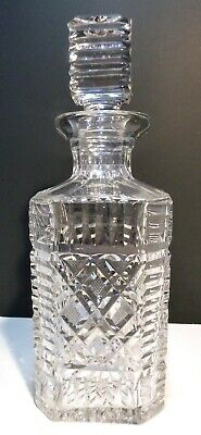 """*VINTAGE* Waterford Crystal MASTER CUTTER Strawberry Cut Square Decanter10"""""""