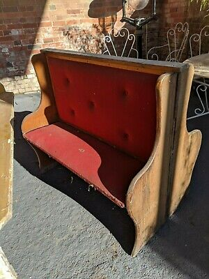 Antique Church Pew Double Sided Settle Bar Pub Cafe Bench Seat Solid Oak