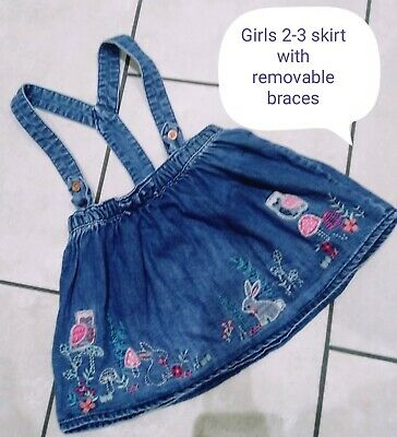 Girls Pretty Detailed Skirt  With Braces Age 2 - 3  Years