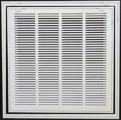 "8"" x 10"" Steel Return Air Filter Grill for 1"" - 8 x 10, White"