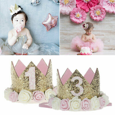 Baby Tiara Princess Decoration Birthday Crown Boy Headband Flower Party Girl