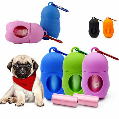 Dog Poo Bag Poop Case Pick Up Bags Dispenser Garbage Pet Waste