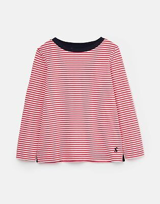 Joules Girls Pascal Striped Lightweight Top 3 12 Years in PINK WHITE STRIPE