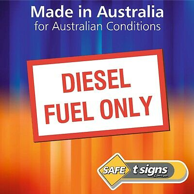 Diesel Fuel Only - Sticker 50 x 30mm - Self Adhesive Vinyl Decal - Vehicle