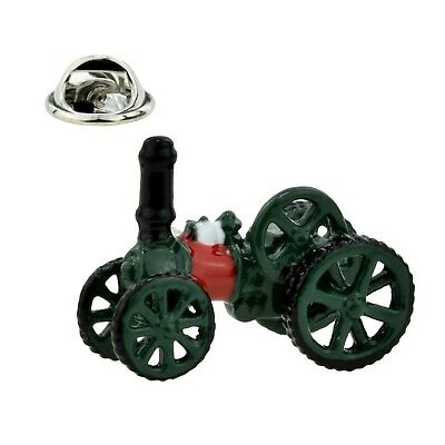 Steam Engine Lapel Pin - Steam Traction Engine Lapel Pin Badge