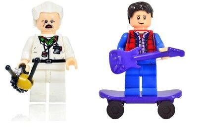 BACK TO THE FUTURE  TOY LEGO MINIFIGURE  Marty McFly Doc Brown