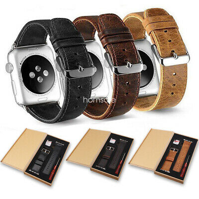 Genuine Leather Wrist Band Strap For Apple Watch 38/42/40/44mm
