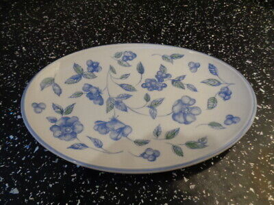 Bhs Bristol Blue Small Oval Plate / Pickle Dish
