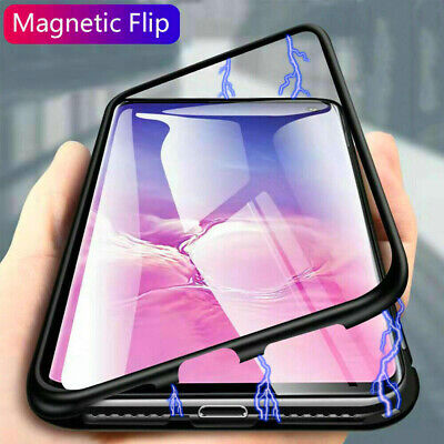 For Samsung S10 5G S9 Plus S10e Case Magnetic Adsorption Glass Shockproof Cover